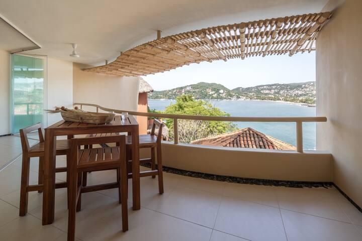 Minimalistic 1BR beachview condo in La Madera