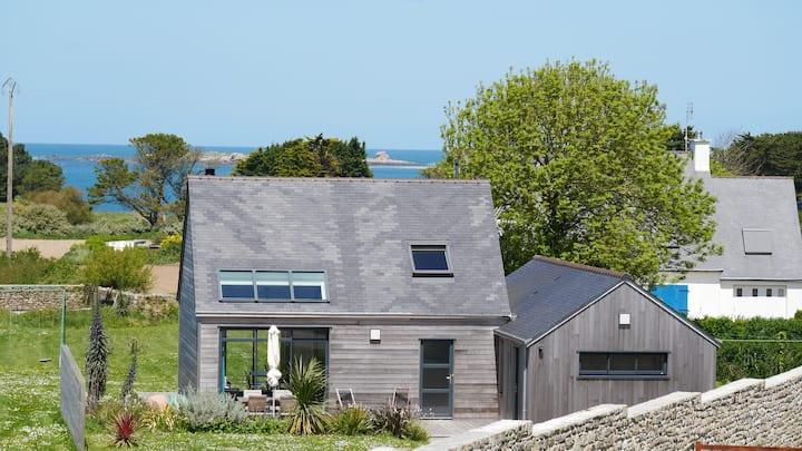 Maison bois, près des plages et des dunes