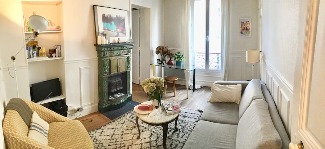 Cosy bedroom vibrant neighborhood rue oberkampf apartments for rent in paris île de france france
