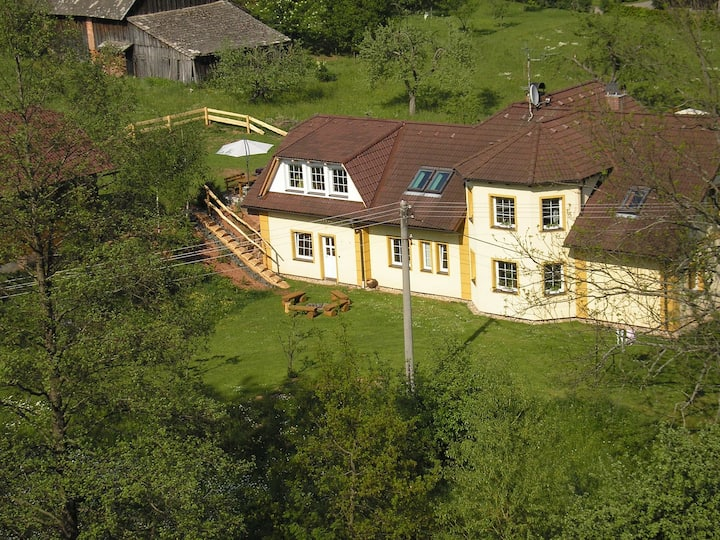 Apt for 4+2 persons with pool in Hostinné R3666
