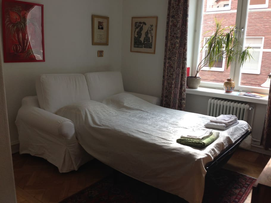 Your bed for two, if you're intimate. 133cm. ;-)