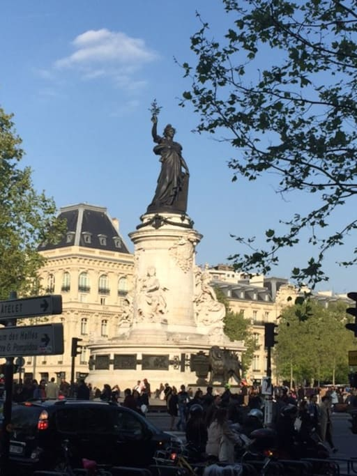 "The famous ""Place de la République"""