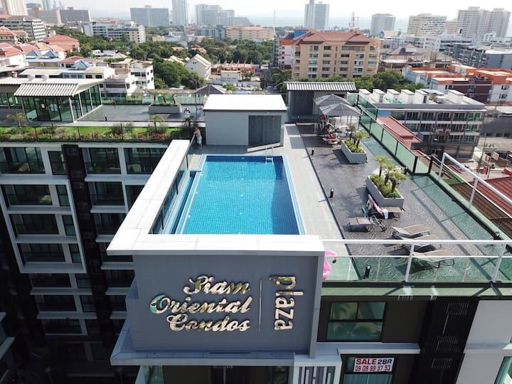 Plaza Siam Oriental, Pratamnak,1 bedroom sofa bed