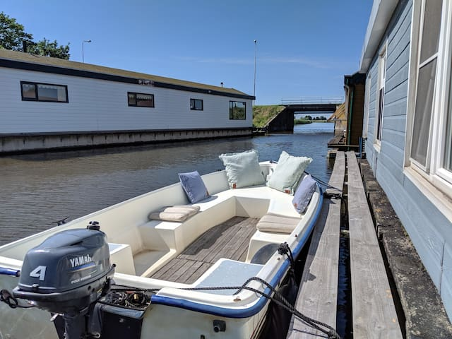 ★Unique houseboat: Amsterdam & windmills!★
