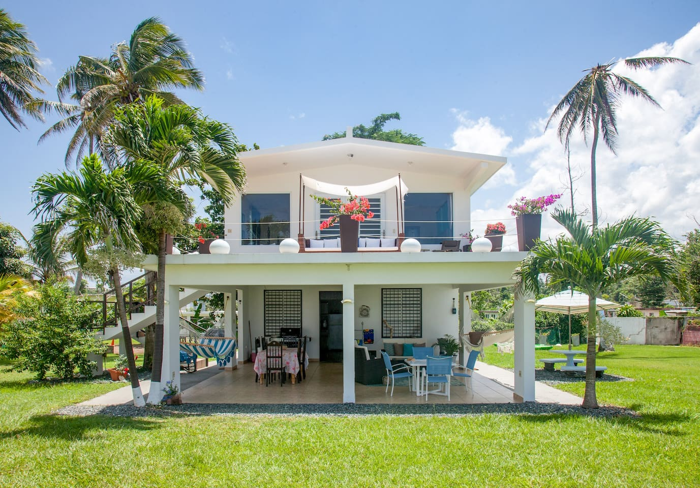 Ocean front house with large property