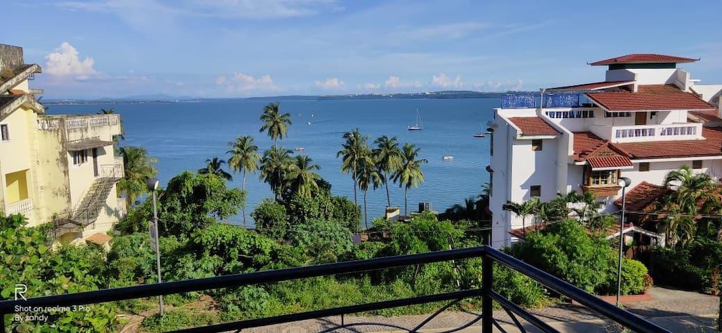 4BHK Sea View Apartment @ Dona Paula
