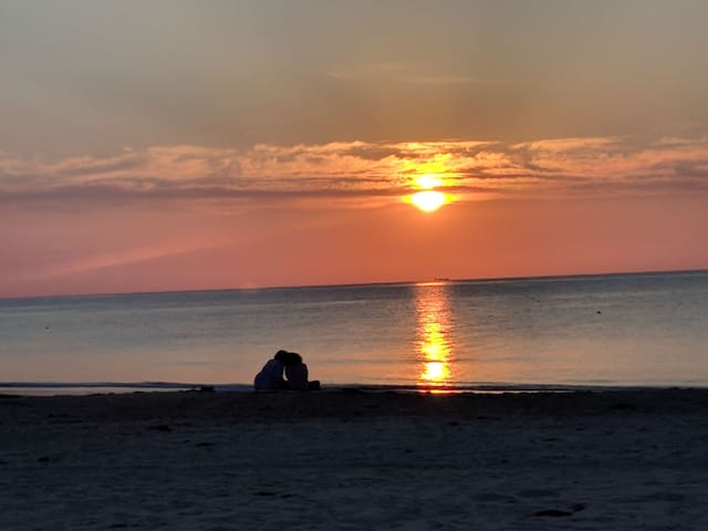 Bonfire Cottages are just two blocks from beautiful Buckroe Beach on the Chesapeake Bay in Hampton, Virginia.