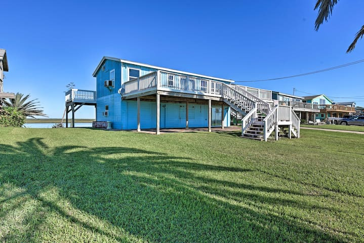 Oceanfront Sargent Beach Home w/ Dock!