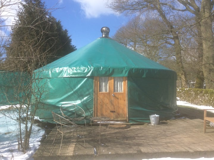 Large yurt with underfloor heated bathroom