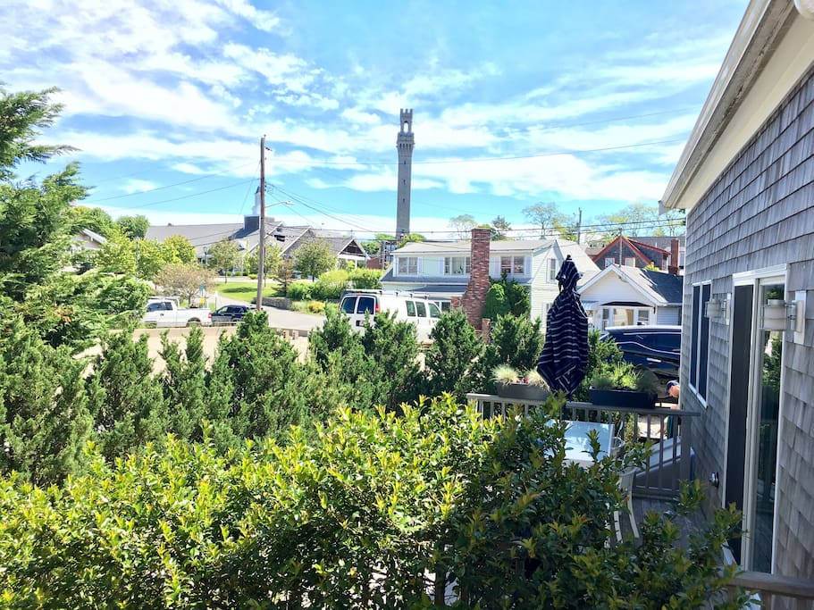 Monument view from private landscaped deck
