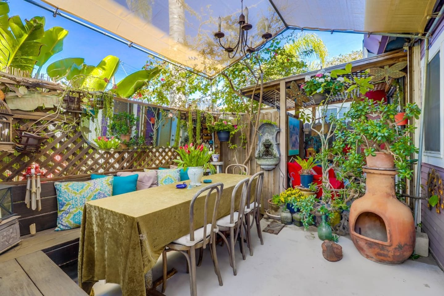 "Your Private Covered Garden Patio...The Best ""Hidden"" Hide Out Around"