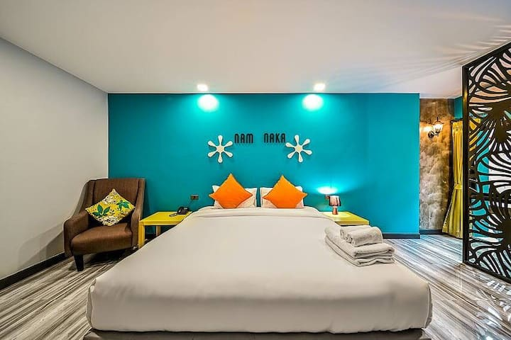 Small size colorful boutique hotel