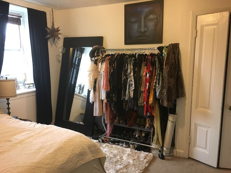 Will remove clothing so you have a place to store your clothing.