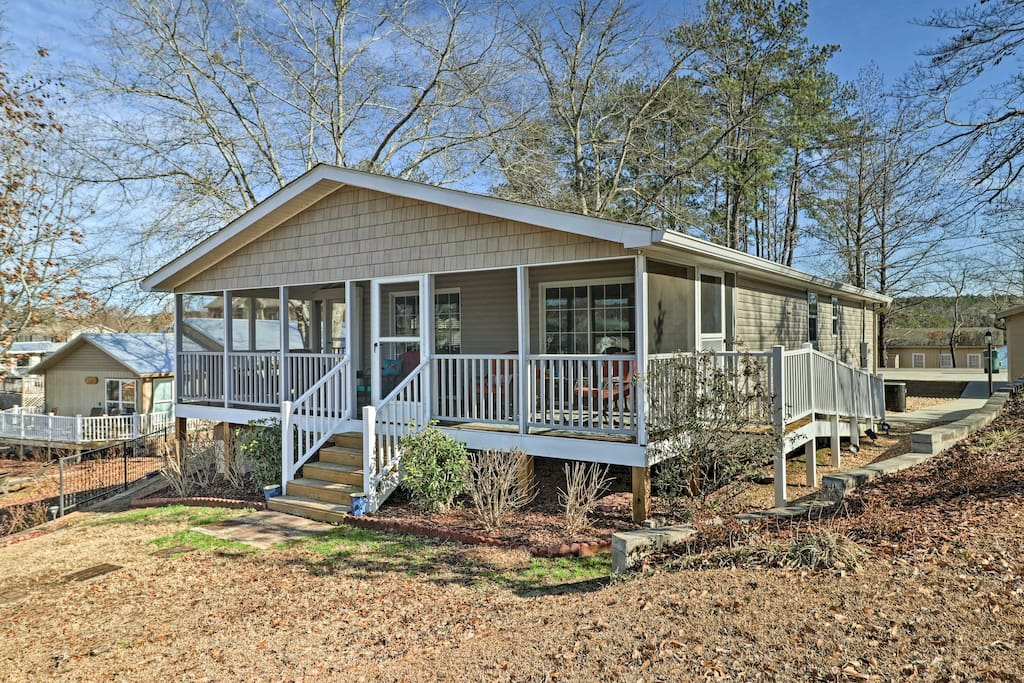This home is situated on Lake Martin and near a golf course!