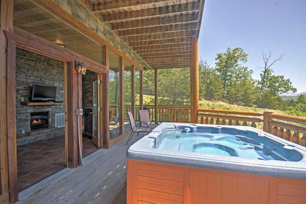 Enjoy a refreshing beverage outside on the deck or in the hot tub.