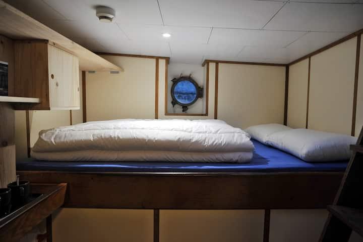 Cabine privée sur un bateau historique