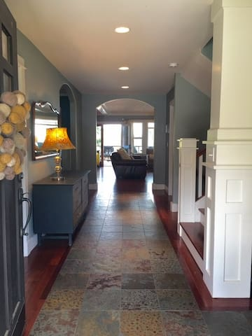 Welcome to our home! Enjoy the main floor millwork and slate/Brazilian hardwood floors!