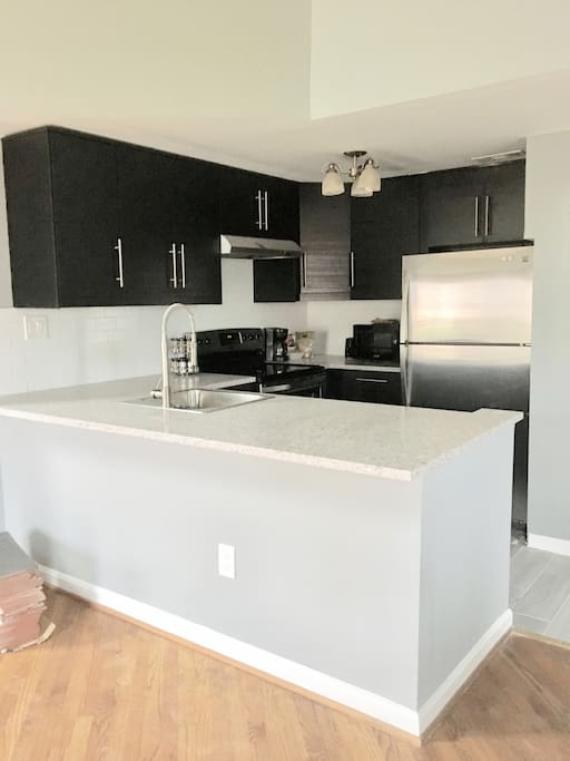 Clean and modern kitchen with all the amenities