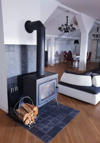 Fire place in the living area
