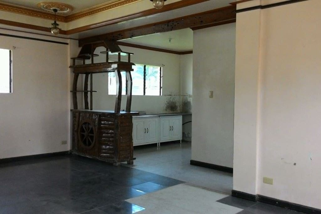 Kitchen & Dining Area with 1 toilet  & bath