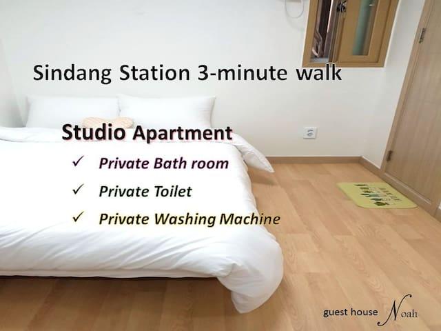 Noah #4 Shindang-st. 3min walk / studio apartment
