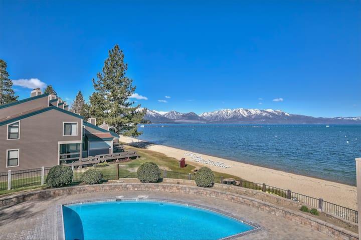 Lake Tahoe Home w/Private Beach, Pool & Heavenly!