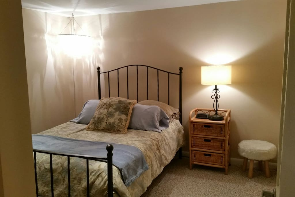Beautiful bedroom includes 2 closets with room for hanging clothes and storing suitcase