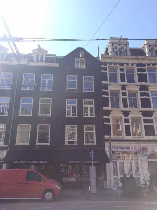 The exterior of our apartment. It is the upper window;)