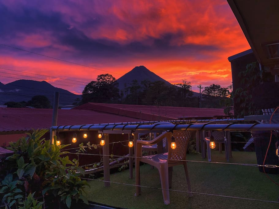 Backside terrace, literally the best view point to see the colorful sunsets.