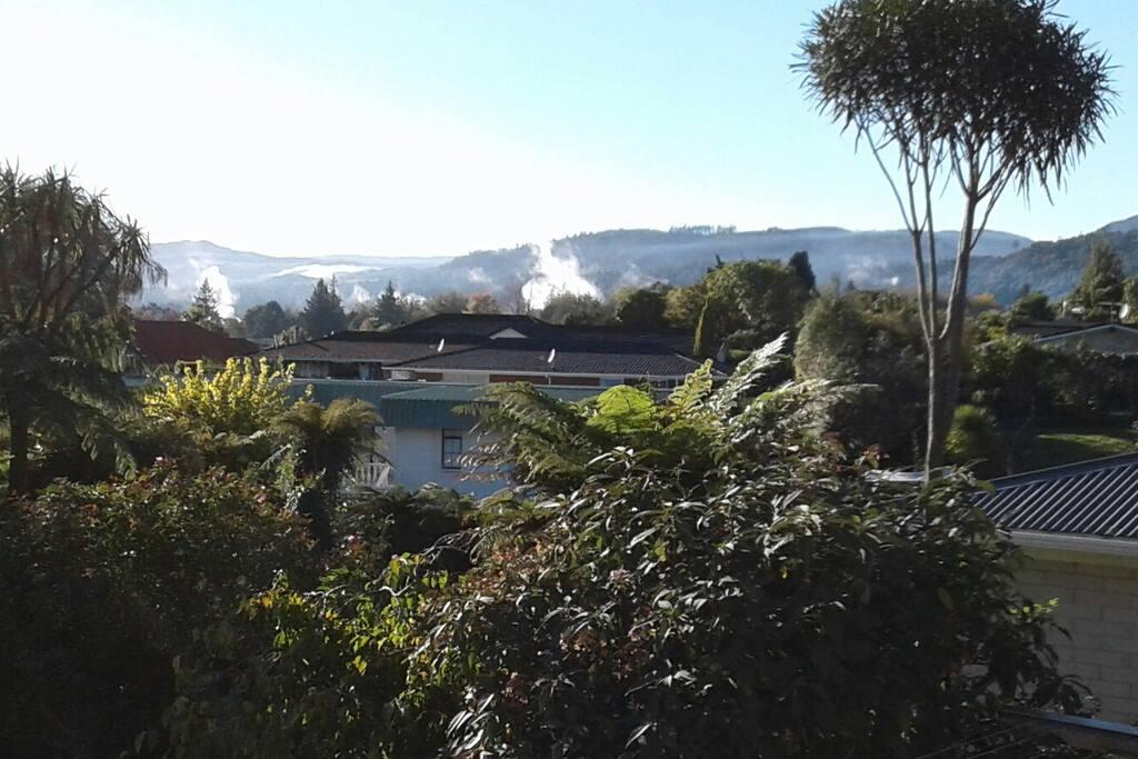 Beautiful steamy outlook