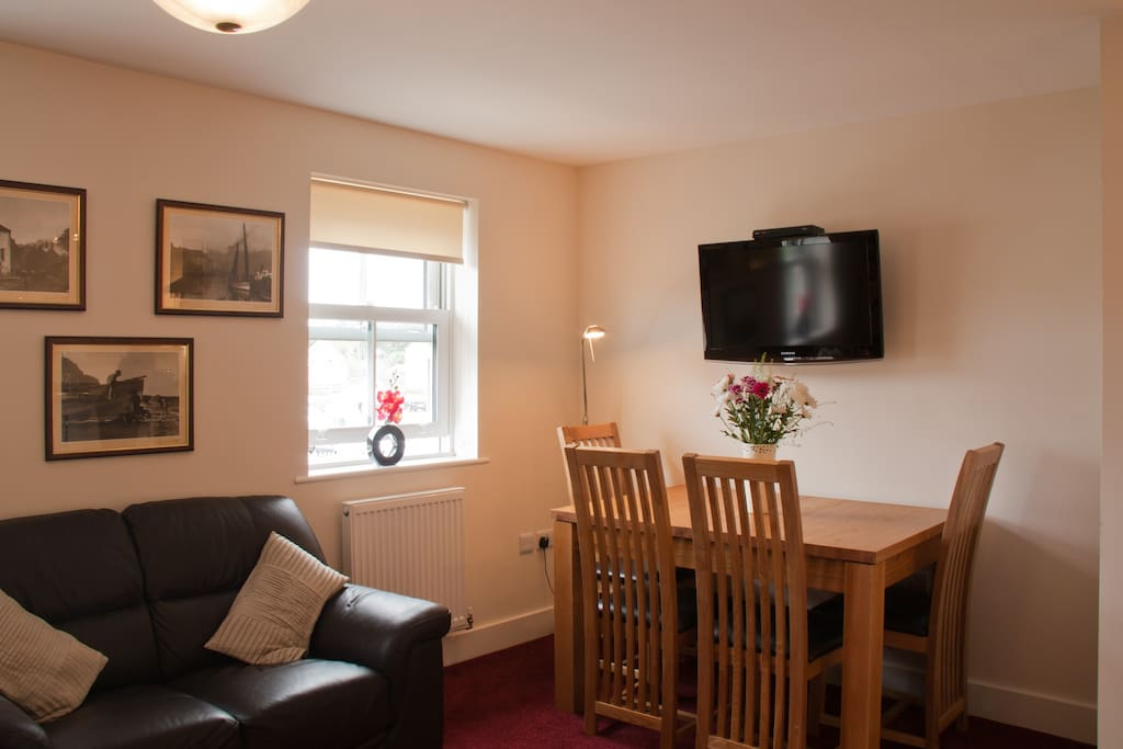 Dining area and TV with freeview and DVD