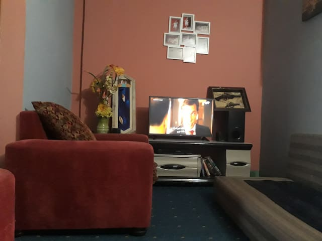 Furnished DoubleBed condominium 10min from airport