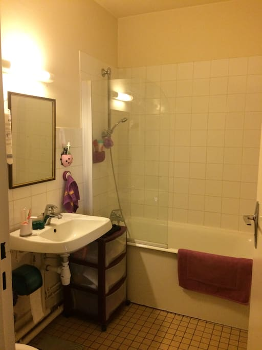 Salle de bain avec toilettes