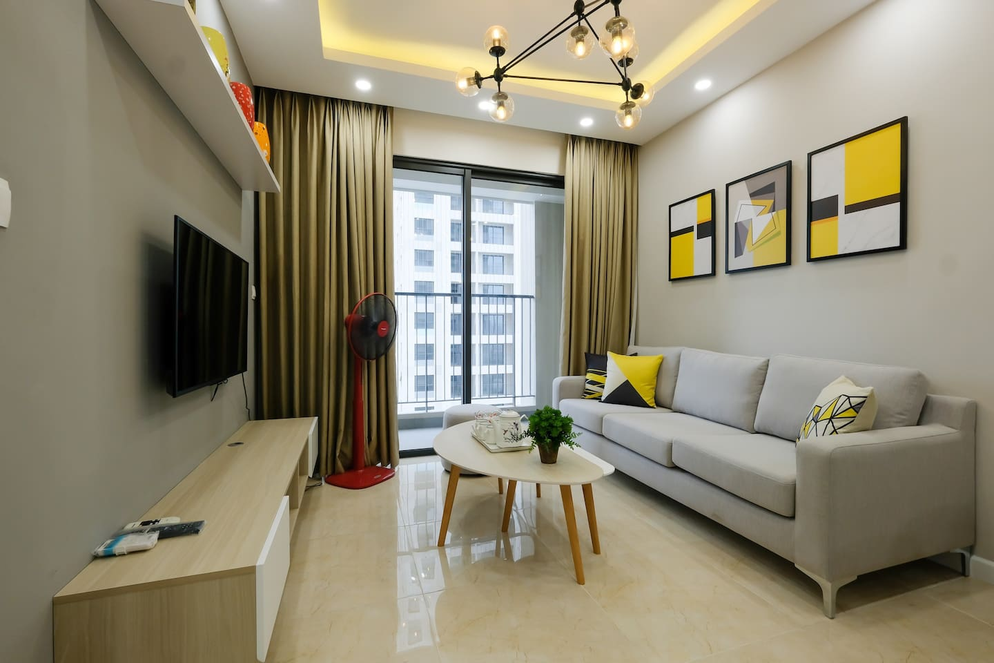 Bright living room in apartment
