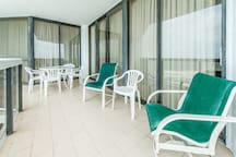 Seating and dining on the balcony