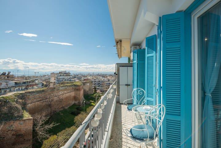 Bohemian Studio with Panoramic City View