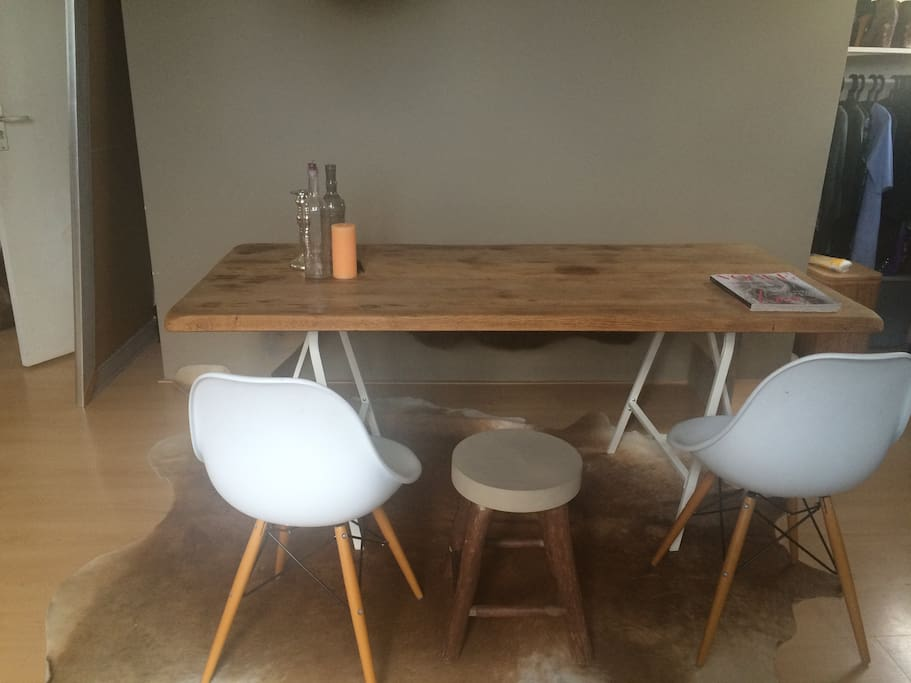 large dining table/space to work