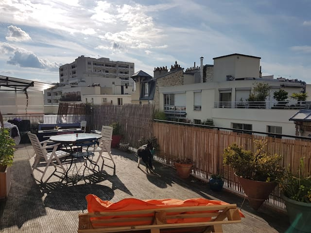 Summer flat with huge terrasse