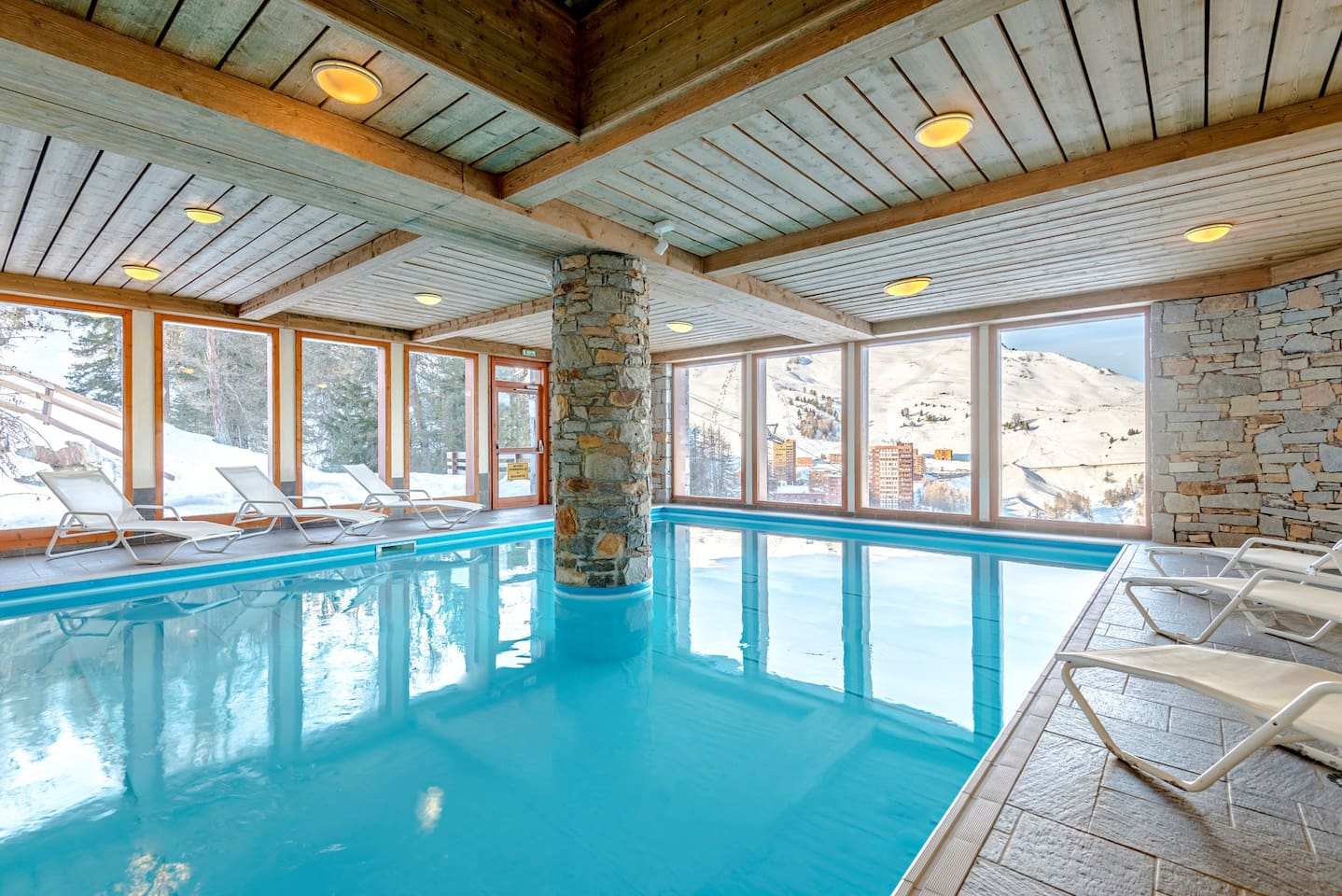 Spend time with family and friends in the indoor pool!