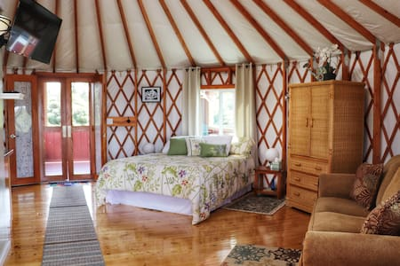 We look forward to opening our yurt again soon!