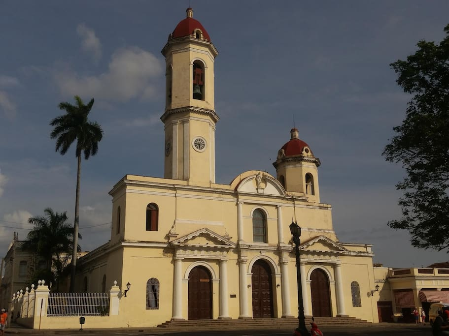 Vista desde el portal de la Catedral de Nuestra Señora de la Purísima Concepción