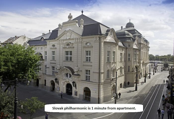 Round the corner is Slovak philharmonics orchestra