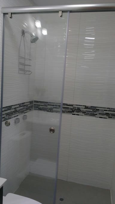 Beautiful remodeled bathroom with walk in shower