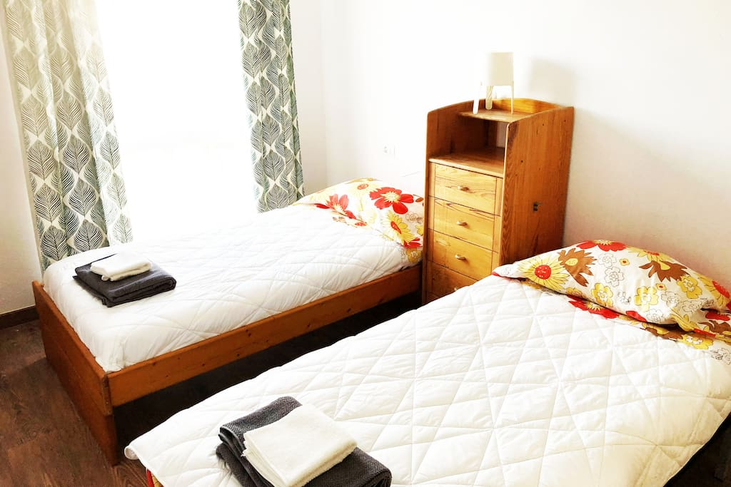 2nd Double room: with double or Twin beds: large, fresh, full of light, newly renovated!
