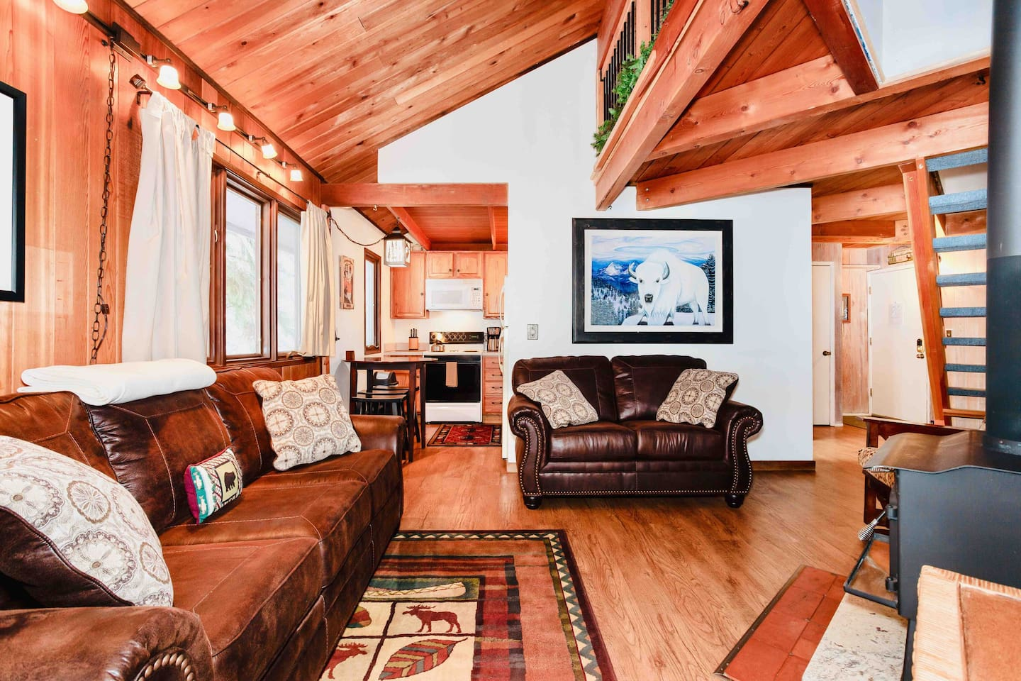 Our loft condo up on the mountain is a perfect getaway for a couples retreat or family vacation! Come stay with us!