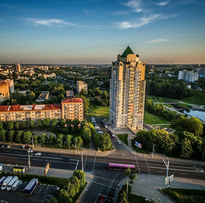 Luxury brand new building in the heart of Mogilev.