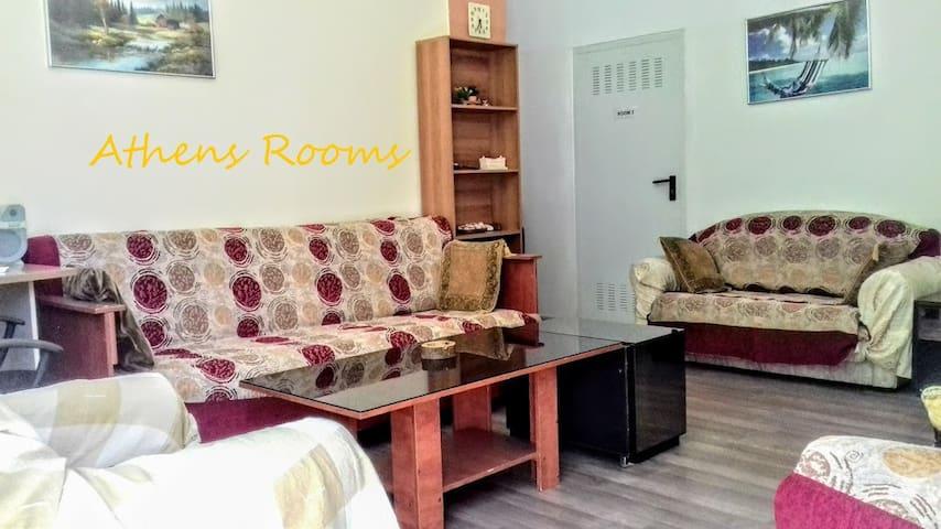 Single private room - the center, sea in 15 min - Agios Dimitrios - Apartamento