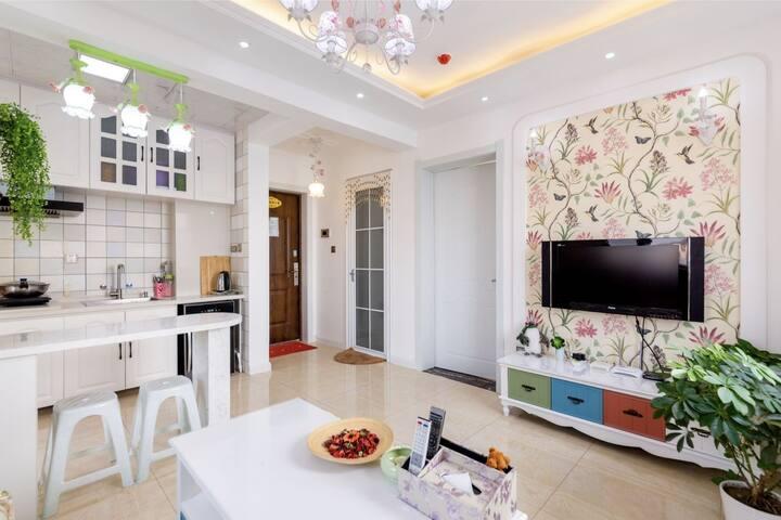 虎石台贝嗳主题公寓清新田园风格