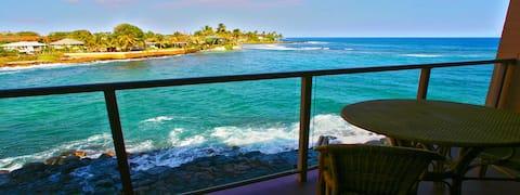 Oceanfront 1 Bedroom Condo - Kuhio Shores in Poipu