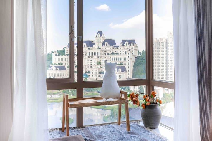 【一间】花果园白宫 精致混搭观景房  观影两居室 阳光亲子间